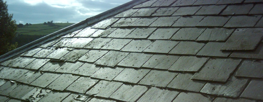 slipped roof tile